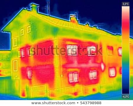 warmte · verlies · huis · infrarood · gebouw · technologie - stockfoto © smuki