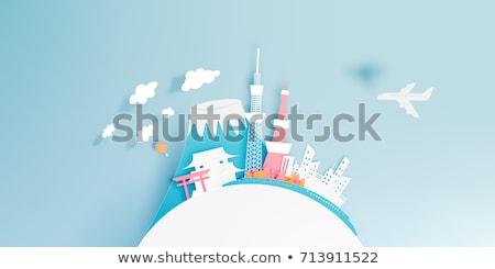 travel japan destination landmarks skyline background stock photo © cienpies