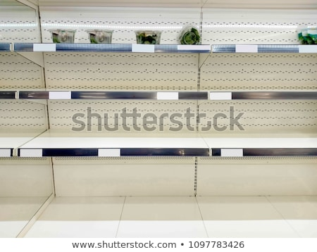 Close-up of empty retail store shelf stock photo © 350jb
