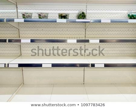 Foto stock: Vazio · varejo · armazenar · prateleira · tiro