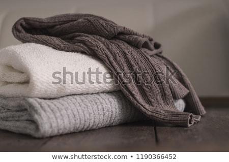 Suéter cardigã tricotado padrão textura Foto stock © stevanovicigor