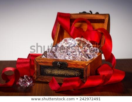 Magnífico diamante grande branco jóias Foto stock © Kacpura