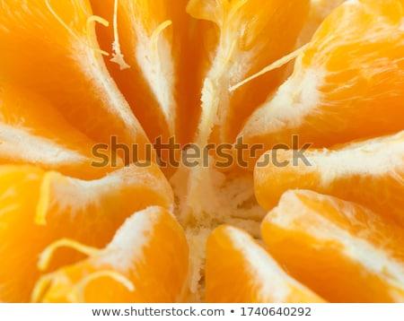 Studio shot rosette of peeled mandarine isolated on white Stock photo © dla4