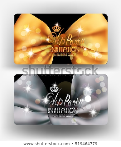 Diamond royal crown VIP card, vector illustration Stock photo © carodi