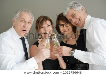 couple dressed up for party celebration stock photo © godfer