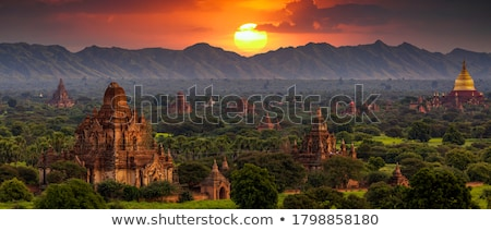 Sunrise in Bagan Stock photo © smithore
