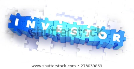 Investor - White Word on Blue Puzzles. Stock photo © tashatuvango