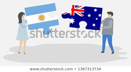 Australia and Argentina Flags in puzzle Stock photo © Istanbul2009