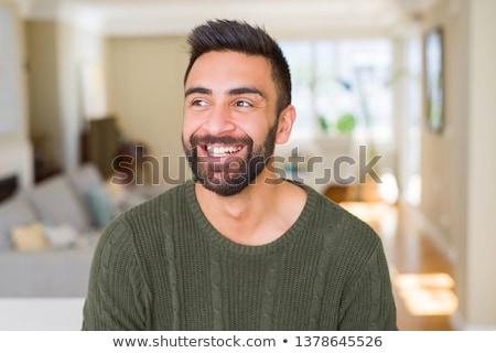 Handsome Indian man laughing Stock photo © ziprashantzi