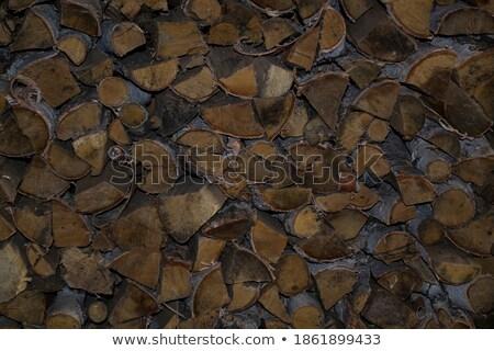 Yakacak odun duvar kuru orman inşaat enerji Stok fotoğraf © mcherevan