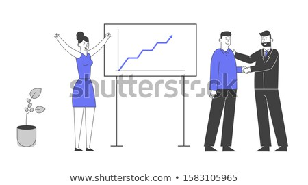 business woman growing profits line art stock photo © cteconsulting