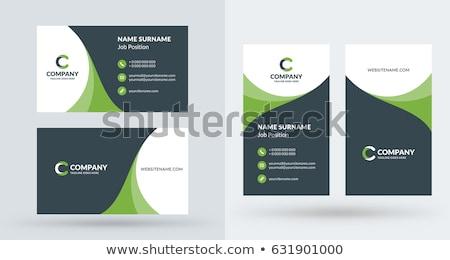 stylish business card template design stock photo © pinnacleanimates