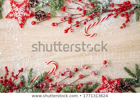 ünnepi · csemegék · absztrakt · karácsony · keret · pite - stock fotó © irisangel