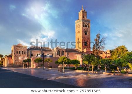 Mecset város Marokkó tájékozódási pont építészet utazás Stock fotó © tony4urban
