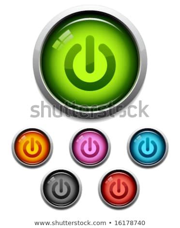 Elektronikus felszerlés kék vektor gomb ikon Stock fotó © rizwanali3d