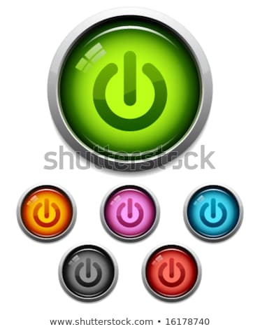 electronic equipment blue vector button icon design set stock photo © rizwanali3d