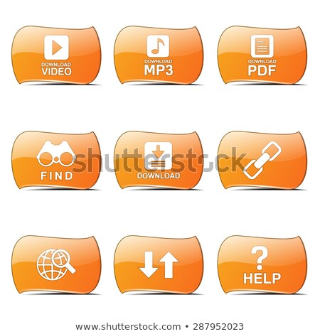 Multimedia Web Internet Orange Vector ButtonIcon Design Set Stock photo © rizwanali3d