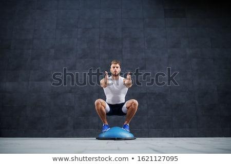 Konzentrieren Mann Ausbildung Ball Fitness Studio Stock foto © wavebreak_media