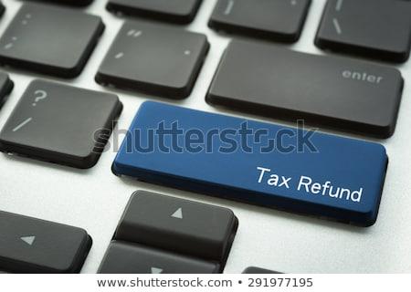 billentyűzet · adó · viszzafizetés · gomb · narancs · számítógép · billentyűzet - stock fotó © vinnstock