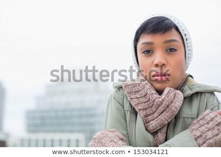 invierno · moda · mujer · brumoso · día · piel - foto stock © CandyboxPhoto