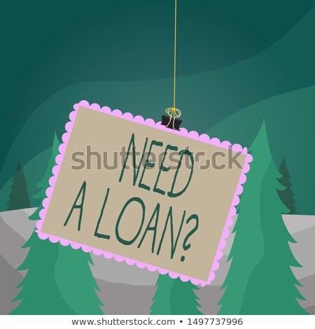 Szükség segítség bélyeg pénzügyi papír üzlet Stock fotó © fuzzbones0
