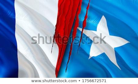 federal · cumhuriyet · Somali · bayrak · kuru · toprak - stok fotoğraf © istanbul2009