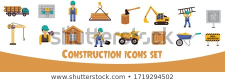 vector construction wheelbarrow stock photo © dashadima