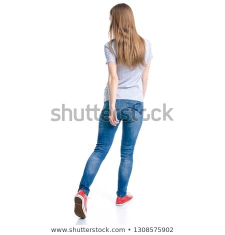 lövés · gyönyörű · szőke · nő · divat · szépség · cipők - stock fotó © konradbak