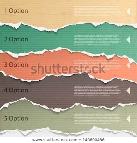 Rozdarty papieru czerwony niebieski zielone papieru projektu Zdjęcia stock © tetkoren