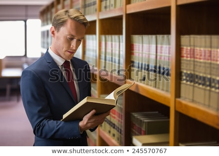 élégant · avocat · droit · bibliothèque · Université · livre - photo stock © wavebreak_media