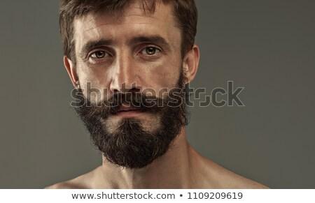 Yakışıklı zarif adam sakal akıllı Stok fotoğraf © konradbak