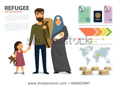 bevándorlás · emberek · Európa · térkép · család · törvény - stock fotó © robuart