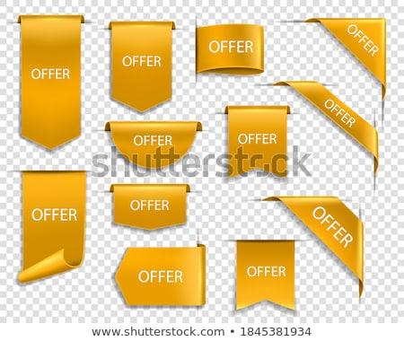 discount deal golden vector icon button stock photo © rizwanali3d