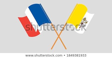 Franciaország szent lát Vatikán zászlók puzzle Stock fotó © Istanbul2009
