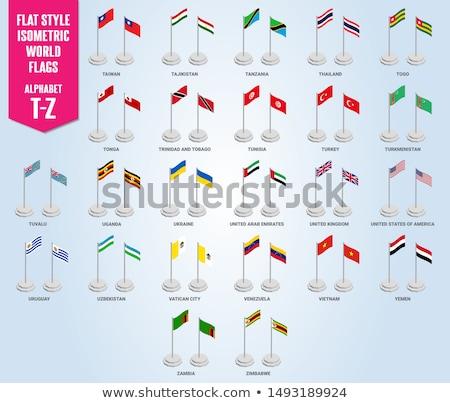 Vereinigtes Königreich Sambia Fahnen Puzzle isoliert weiß Stock foto © Istanbul2009