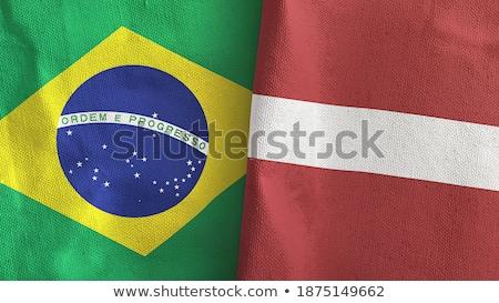 Brezilya Letonya bayraklar bilmece yalıtılmış beyaz Stok fotoğraf © Istanbul2009