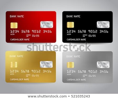 vermelho · azul · cartões · de · crédito · dois · isolado · branco - foto stock © tetkoren