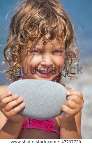 küçük · kız · el · su · bebek · dışarı - stok fotoğraf © paha_l