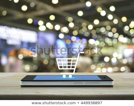Mobiles commerce affaires industrie Finance Ouvrir la Photo stock © kentoh