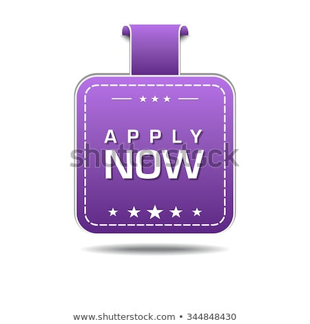 Apply Now Violet Vector Icon Design Stock photo © rizwanali3d