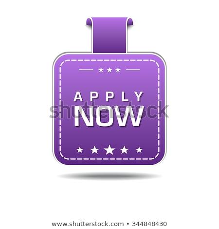 Apply Now Violet Vector Icon Design Stock photo © rizwanali3d