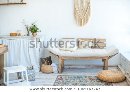Rongyos szoba 3d render kanapé otthon űr Stock fotó © magann