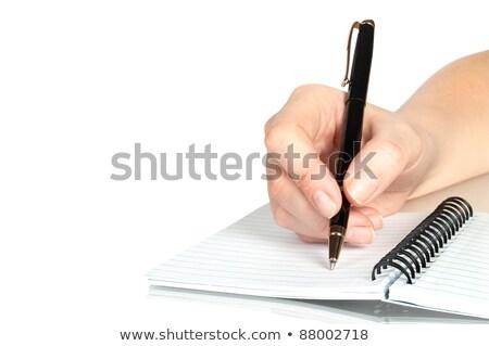 Male hand writing, macro shot Stock photo © stevanovicigor