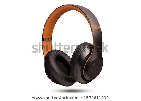 fejhallgató · személyes · sztereó · fehér · háttér · mobil - stock fotó © shutswis