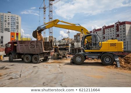 Kotrógép kint építkezés Föld kő ipar Stock fotó © Nobilior