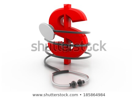 Stock fotó: Orvosi · sztetoszkóp · dollár · fotó · papír · tudomány