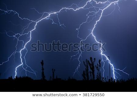 dupla · gond · felhő · föld · villám · égbolt - stock fotó © marcrossmann