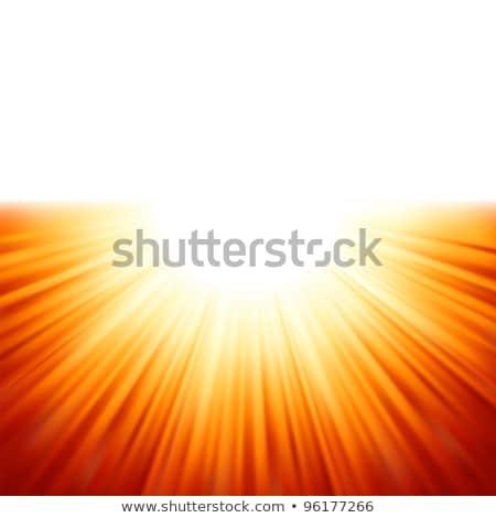Warm sun light. EPS 8 Stock photo © beholdereye