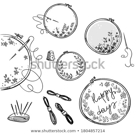 Borduurwerk schets icon vector geïsoleerd Stockfoto © RAStudio