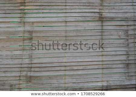 Stock photo: bamboo retro door with rope
